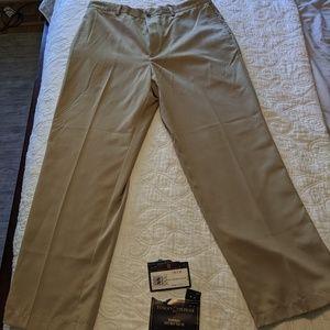 Tommy Hilfiger Micro Tech khaki slacks